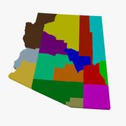县地图-亚利桑那 3d model