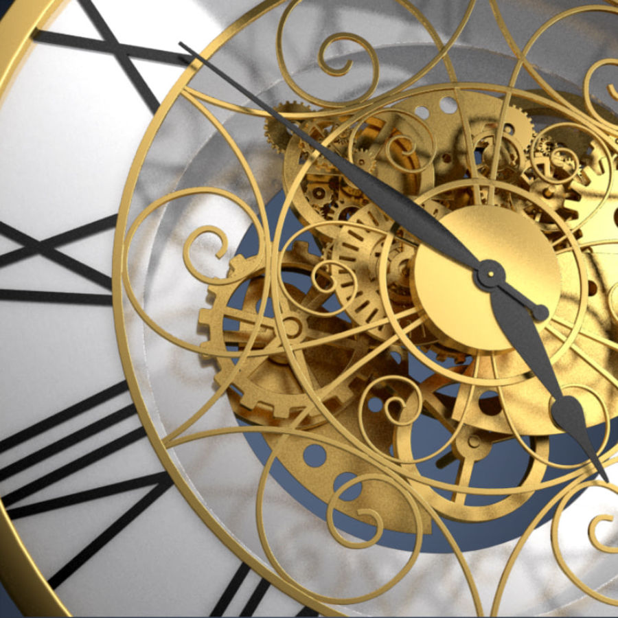 Clock mechanism and gears royalty-free 3d model - Preview no. 1