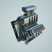 V8 compressor engine 3d model