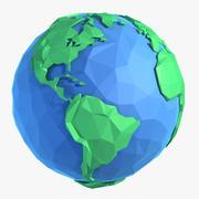 Cartoon Flat Low Poly World 3d model