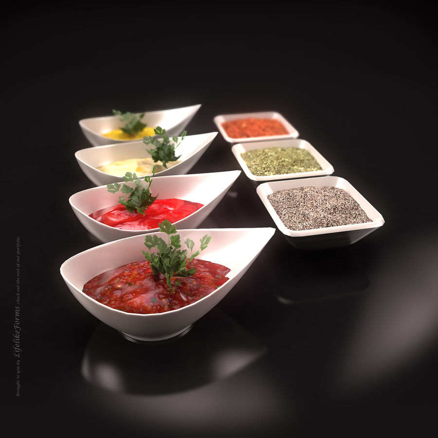 Various spices royalty-free 3d model - Preview no. 2