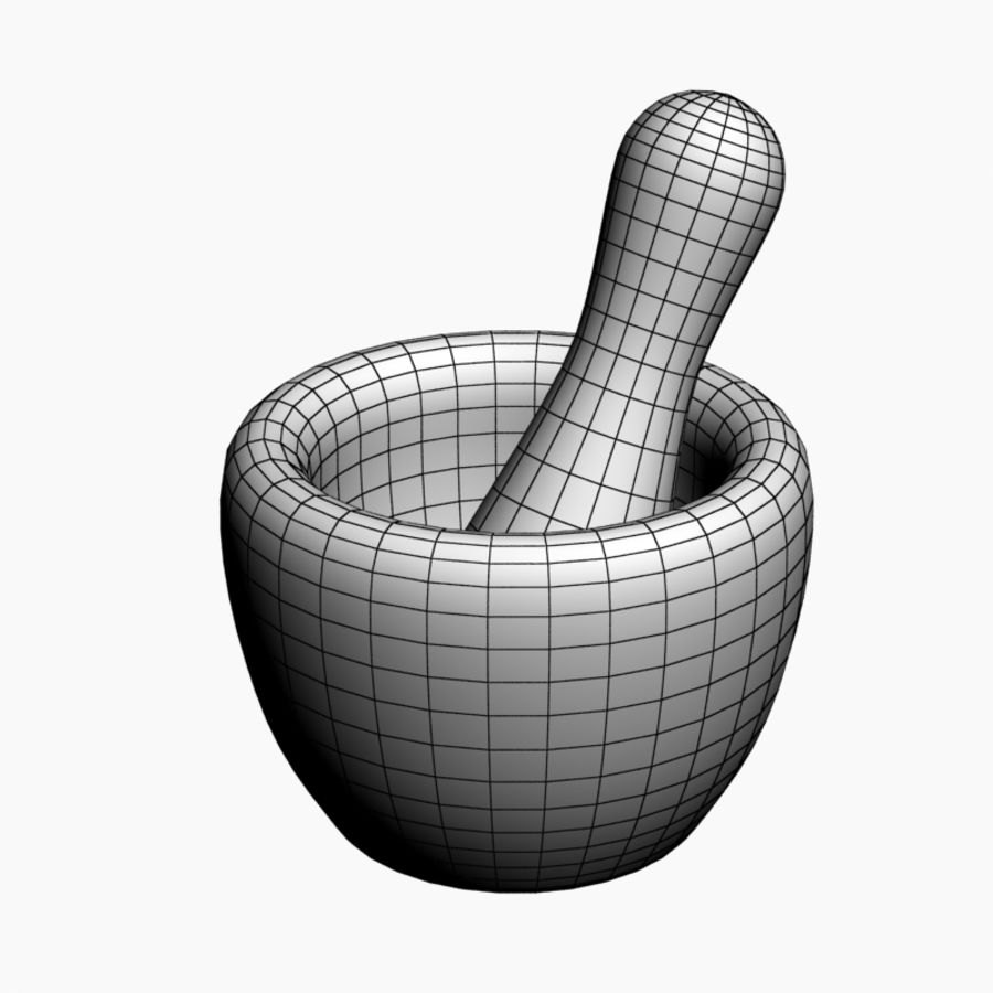 Mortar and Pestle royalty-free 3d model - Preview no. 7