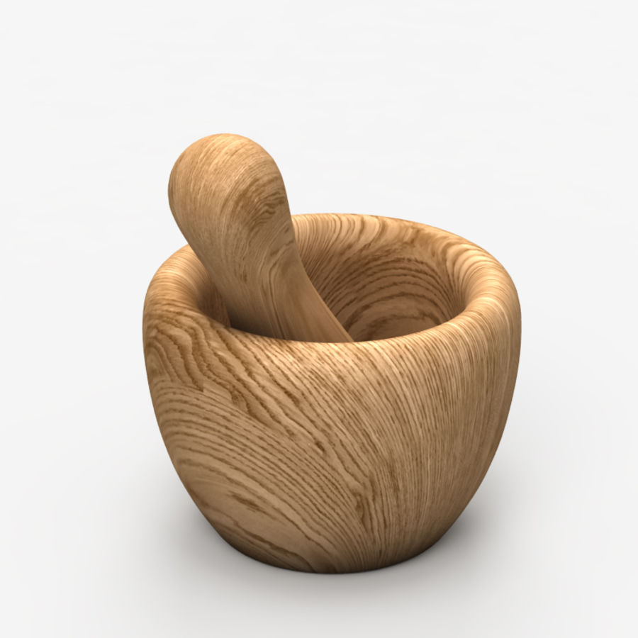 Mortar and Pestle royalty-free 3d model - Preview no. 5