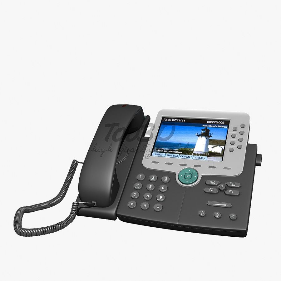 IP phone royalty-free 3d model - Preview no. 2