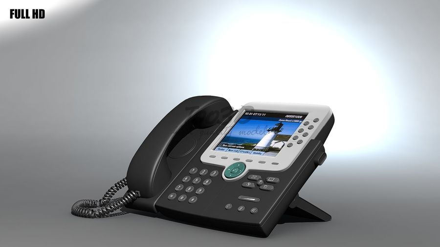 IP phone royalty-free 3d model - Preview no. 8