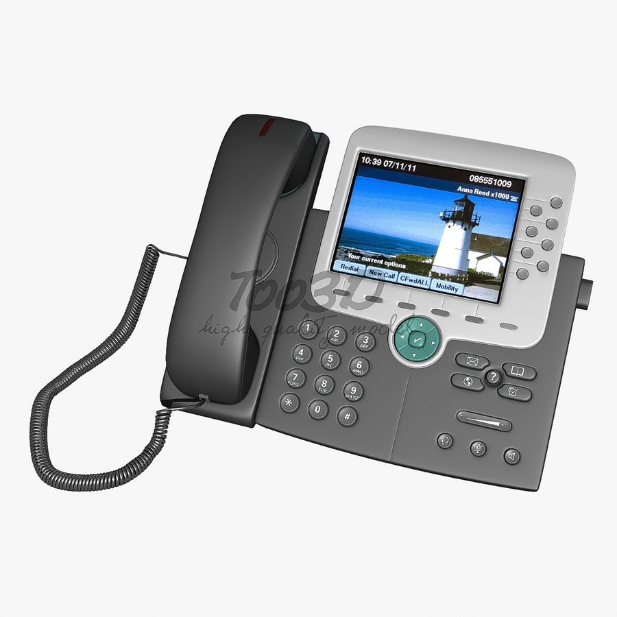 IP phone royalty-free 3d model - Preview no. 1