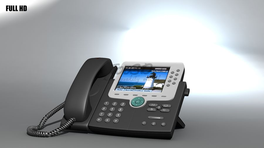 IP phone royalty-free 3d model - Preview no. 7