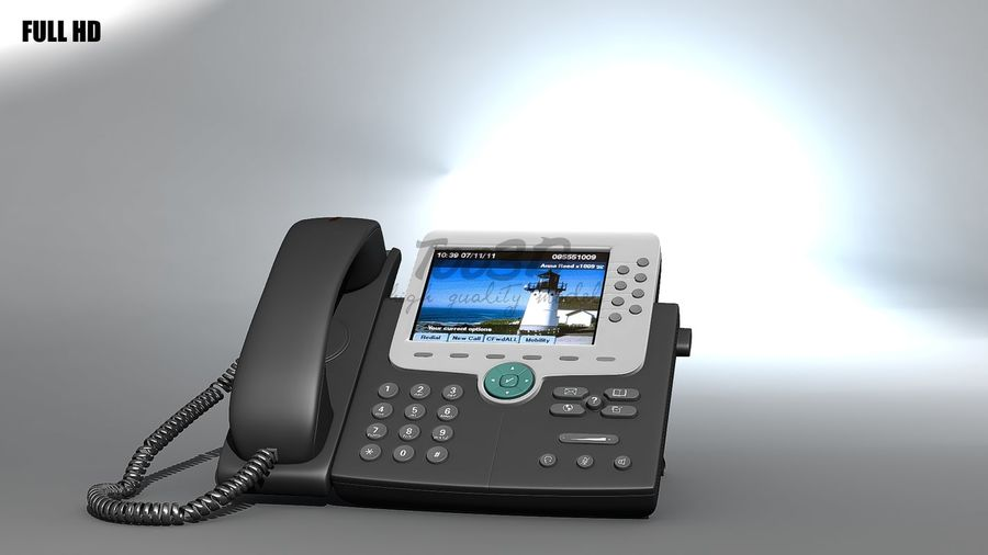 IP phone royalty-free 3d model - Preview no. 6