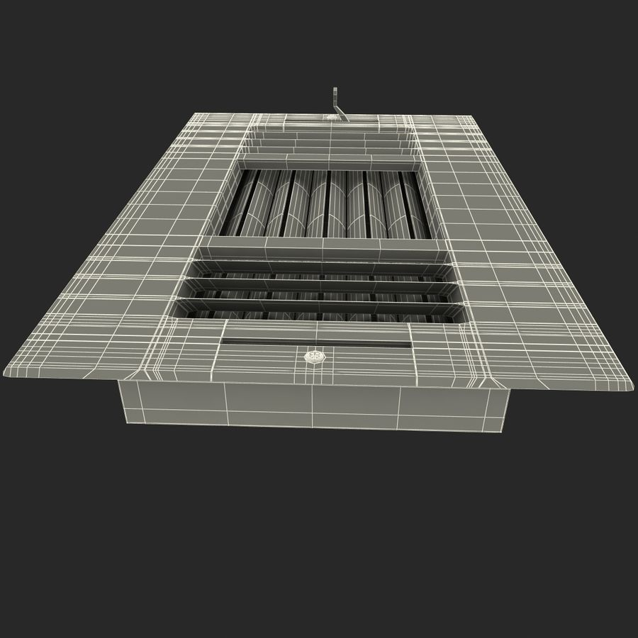 Air Vent 2 royalty-free 3d model - Preview no. 13
