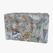 Residuos de papel modelo 3d