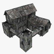 中世纪军营 3d model