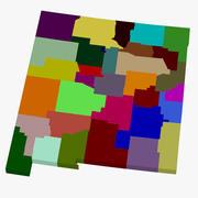 Mapa hrabstwa - Nowy Meksyk 3d model