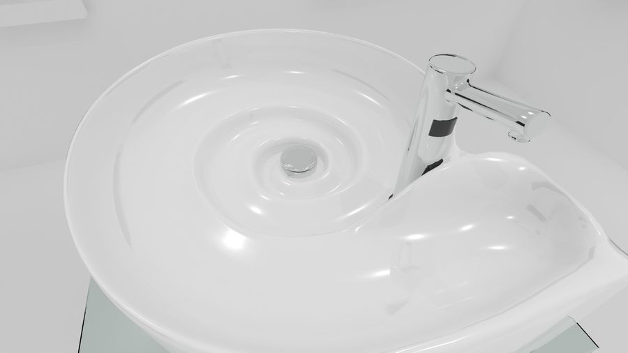 Swirl Sink royalty-free 3d model - Preview no. 1