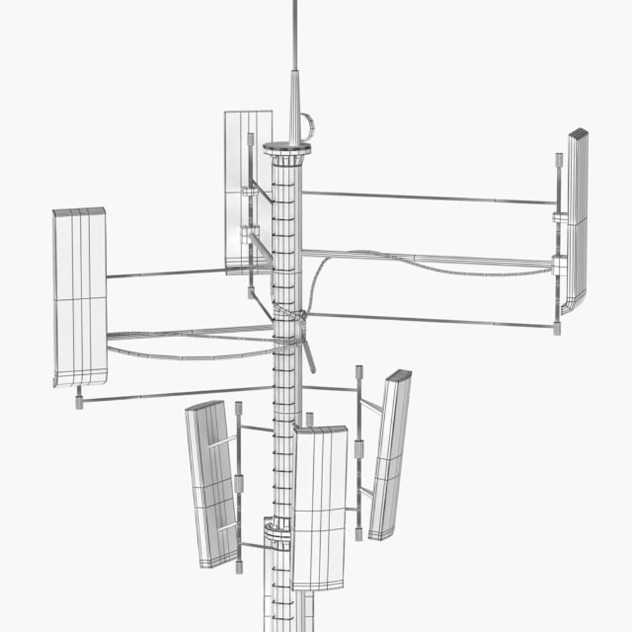 Antenna cellulare royalty-free 3d model - Preview no. 2