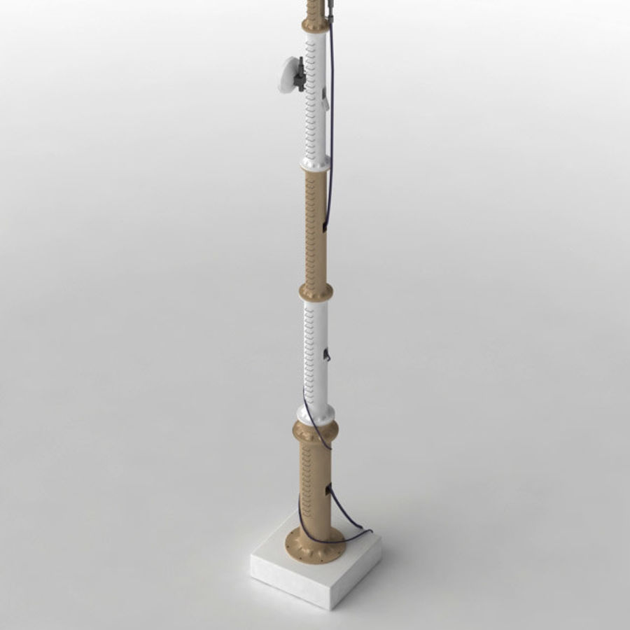 Antenna cellulare royalty-free 3d model - Preview no. 3