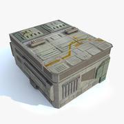 Sci fi Building - G textured 3d model