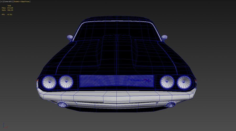 닷지 챌린저 royalty-free 3d model - Preview no. 12