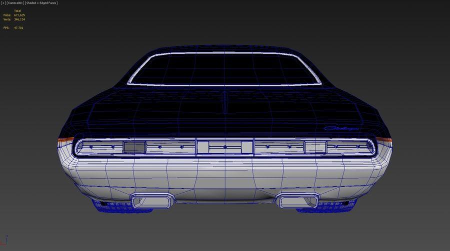 닷지 챌린저 royalty-free 3d model - Preview no. 13