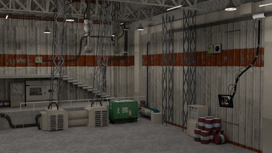 Hangar royalty-free 3d model - Preview no. 3