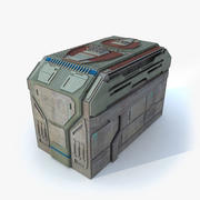Sci fi Building Hテクスチャ 3d model