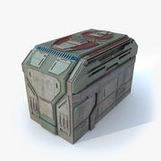 Sci fi Building H textured 3d model