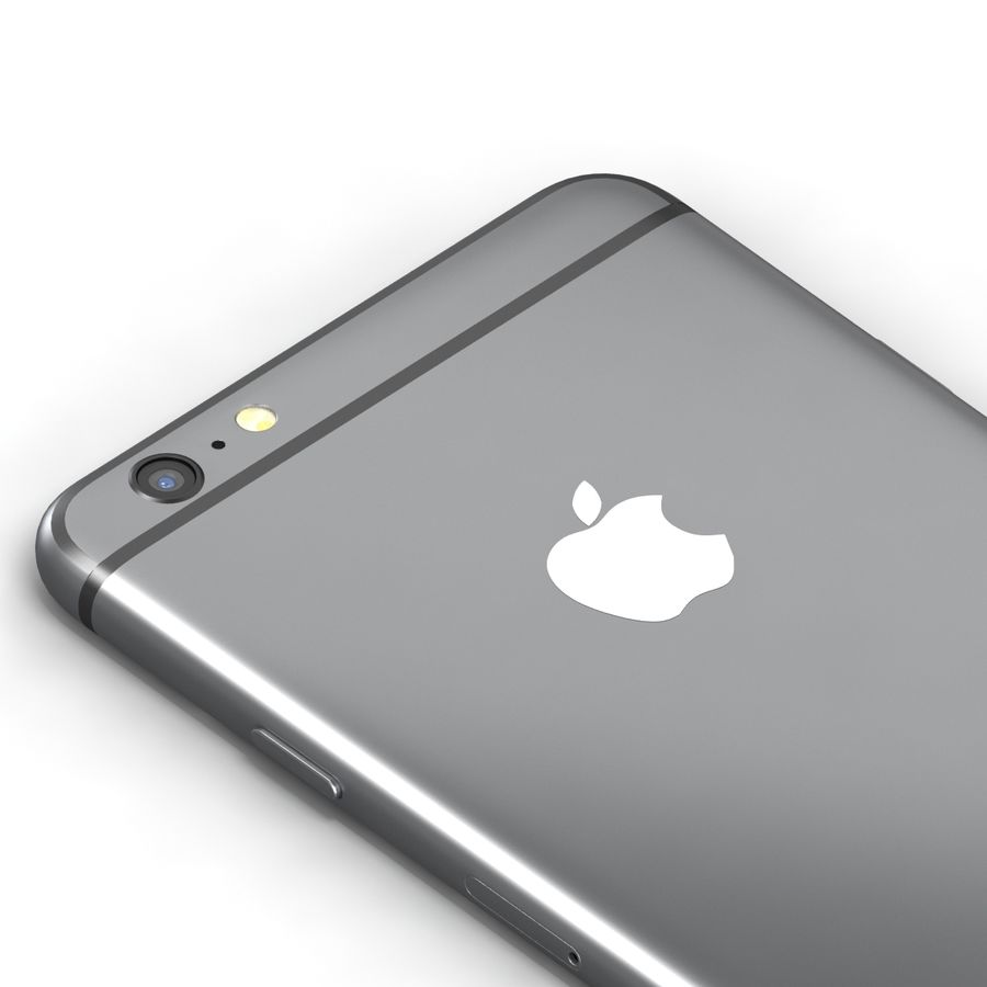 Iphone 6 Preto royalty-free 3d model - Preview no. 7