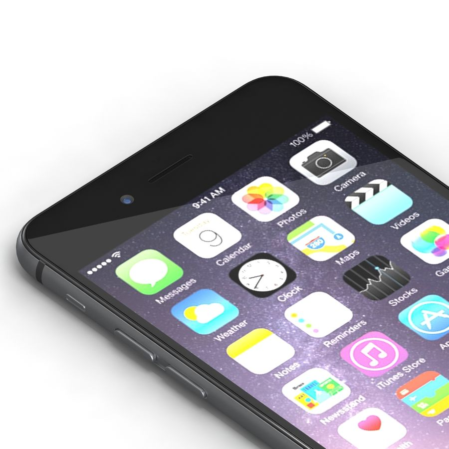 Iphone 6 Preto royalty-free 3d model - Preview no. 6