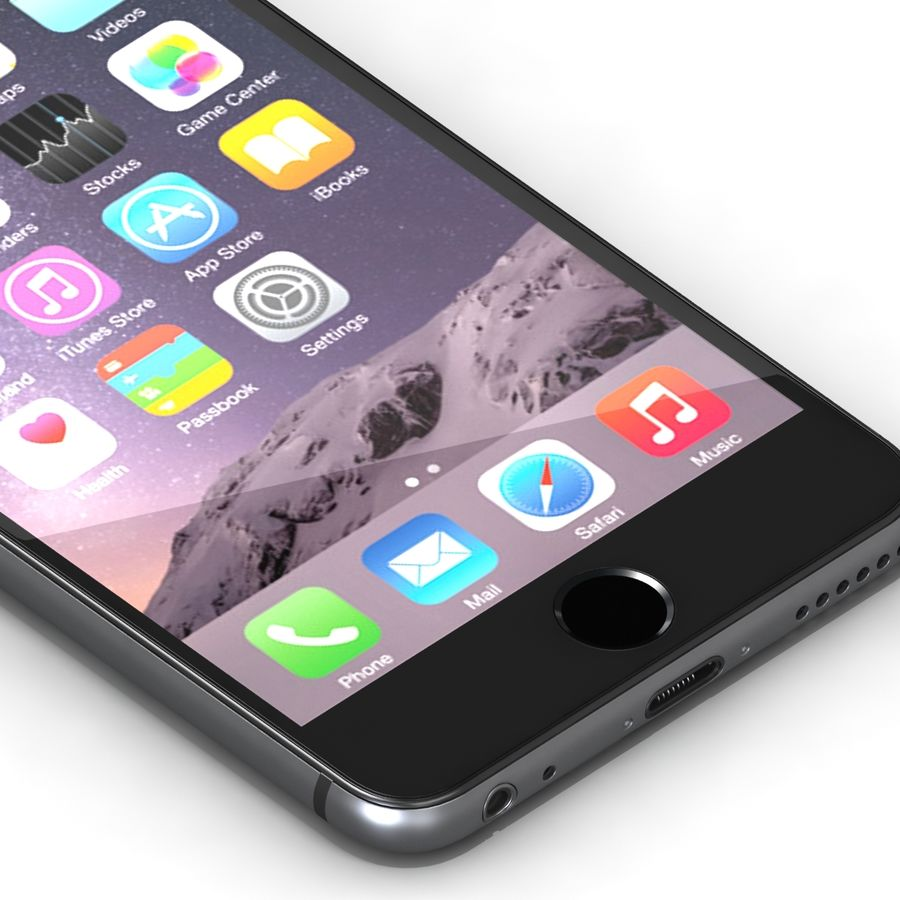 Iphone 6 Preto royalty-free 3d model - Preview no. 8