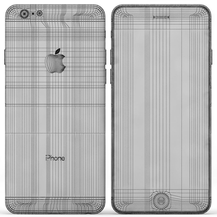Iphone 6 Preto royalty-free 3d model - Preview no. 10