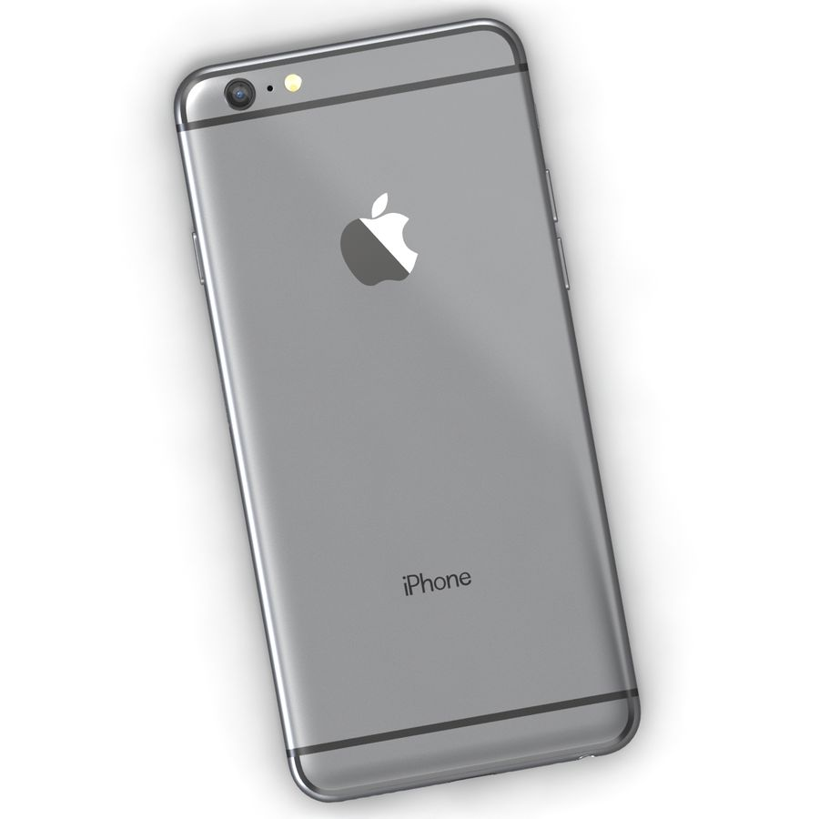 Iphone 6 Preto royalty-free 3d model - Preview no. 5