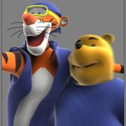 Winnie the Pooh and Tigra 3d model