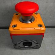 Botón de interruptor de parada de seguridad de emergencia modelo 3d