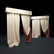 Yellow-curtains 3d model