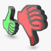 竖起大拇指图标1 3d model