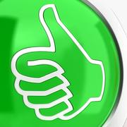 Thumbs Up & Down Icons 3 3d model