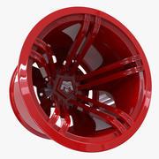 Ruota rossa 3d model
