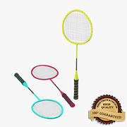 Bat do badmintona 3d model