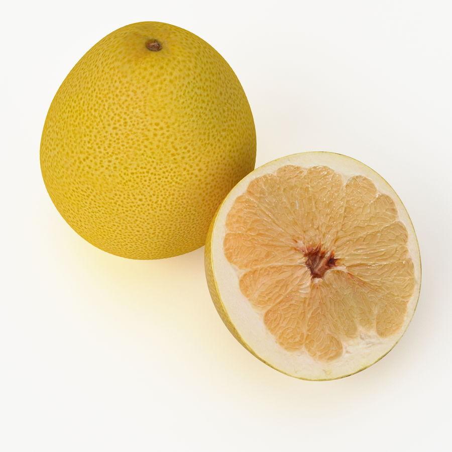 Fruta de pomelo realista royalty-free modelo 3d - Preview no. 4