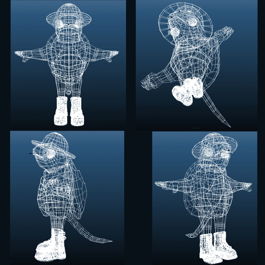 Explorer Turtle royalty-free 3d model - Preview no. 17