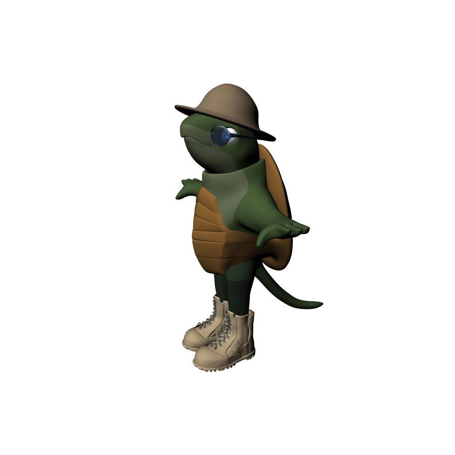 Explorer Turtle royalty-free 3d model - Preview no. 3