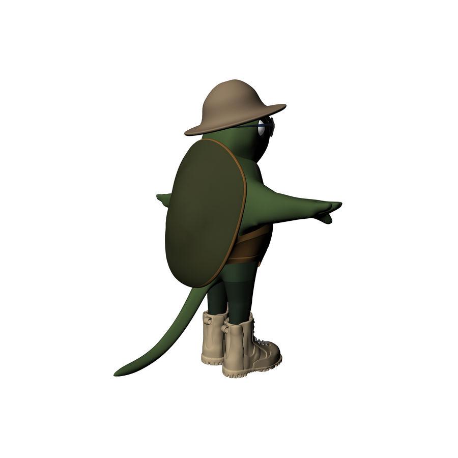 Explorer Turtle royalty-free 3d model - Preview no. 11