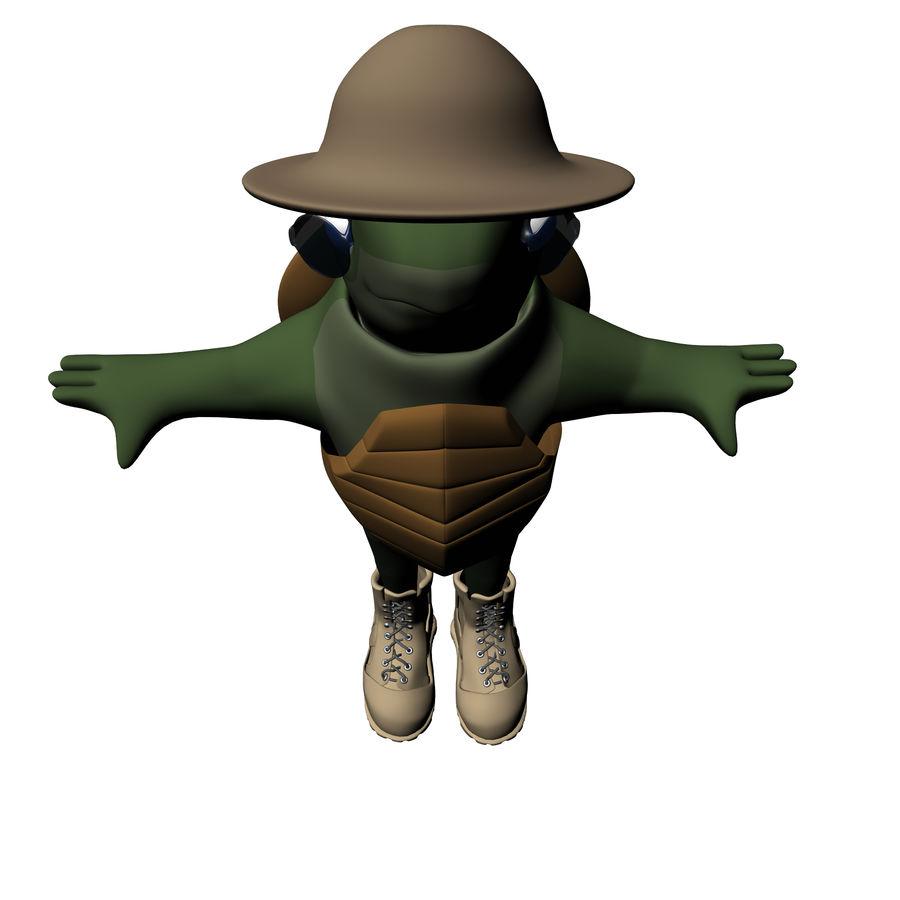 Explorer Turtle royalty-free 3d model - Preview no. 9
