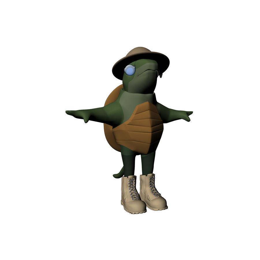 Explorer Turtle royalty-free 3d model - Preview no. 7