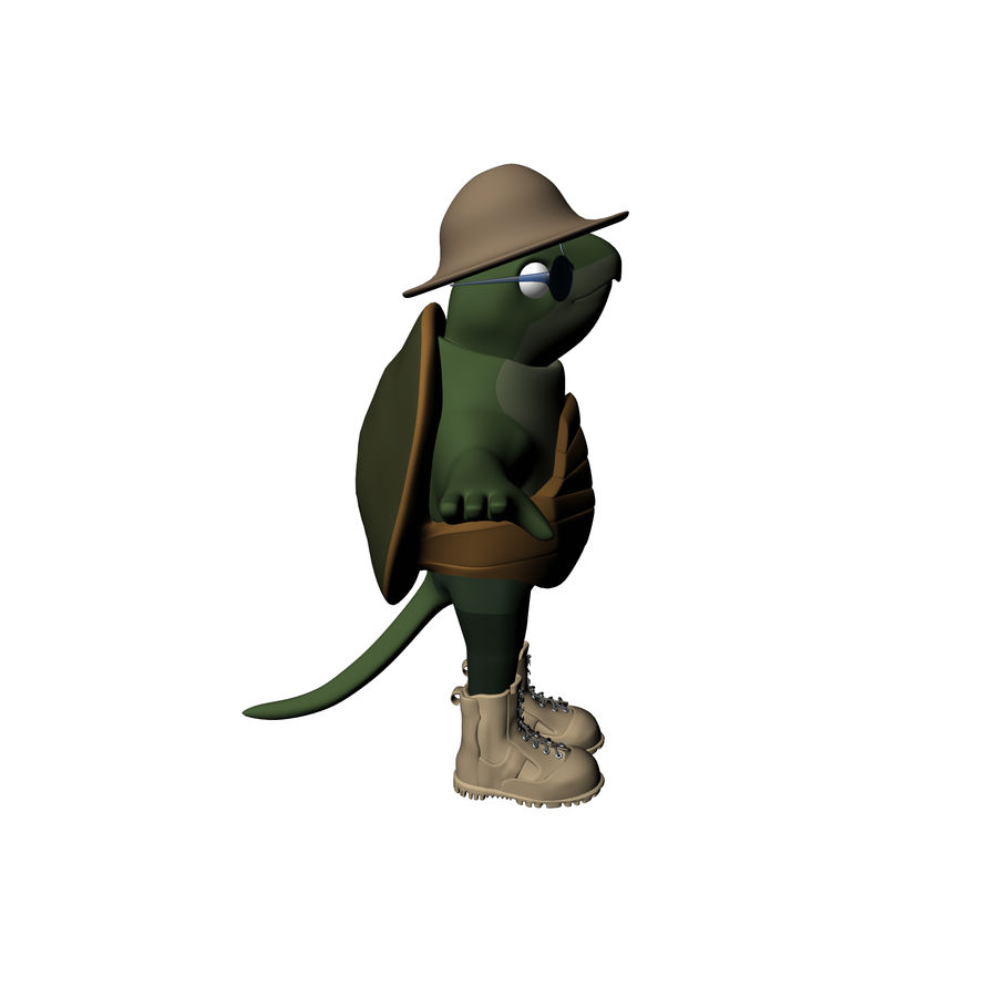 Explorer Turtle royalty-free 3d model - Preview no. 15