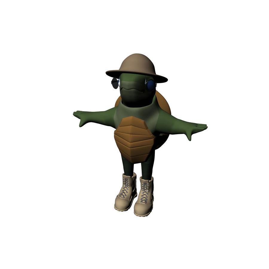 Explorer Turtle royalty-free 3d model - Preview no. 13