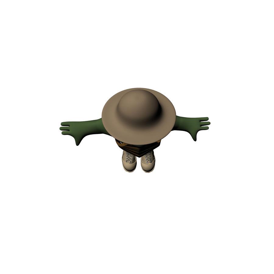 Explorer Turtle royalty-free 3d model - Preview no. 12