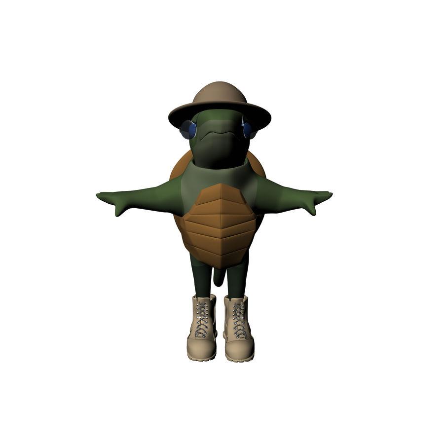 Explorer Turtle royalty-free 3d model - Preview no. 2