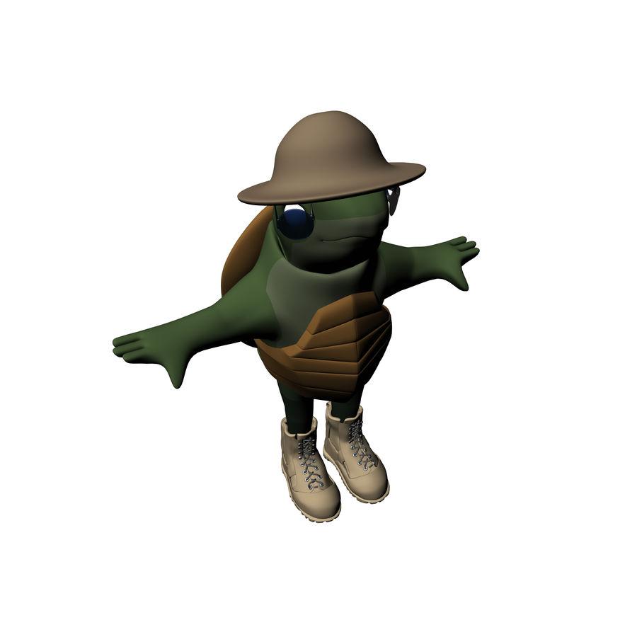 Explorer Turtle royalty-free 3d model - Preview no. 16
