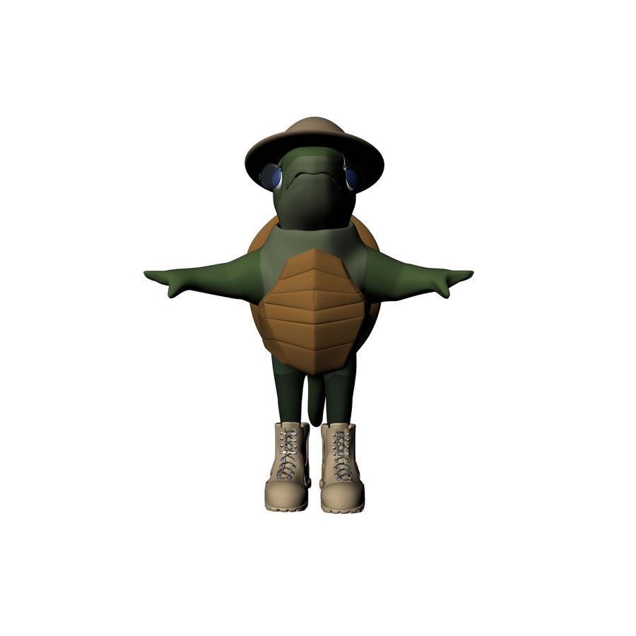 Explorer Turtle royalty-free 3d model - Preview no. 10