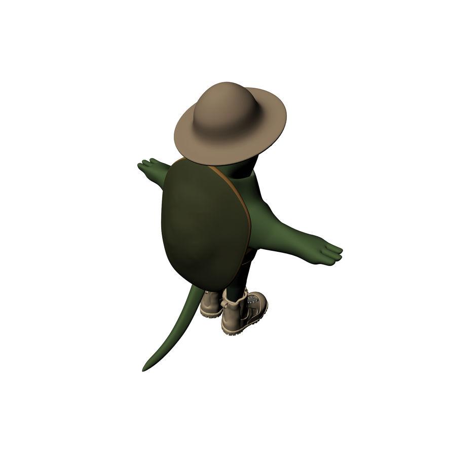 Explorer Turtle royalty-free 3d model - Preview no. 5